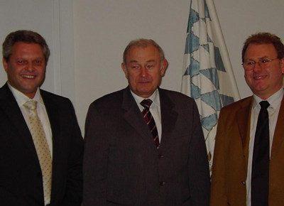 Gespräch zwischen Ministerpräsident Dr. Günther Beckstein und Wolfgang Kurzer und Robert Kasseckert (2007)