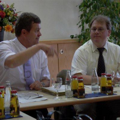 Tagung der AGSV Bayern - Herr Wolfgang Kurzer und Herrn Rolf Habermann im Gespräch. (2007)