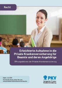Deckblatt der Broschüre des Verbandes der Privaten Krankenversicherung zur Sonder-Öffnungsaktion