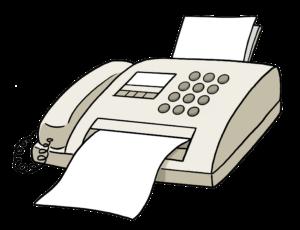 Das Bild zeigt ein Faxgerät. Das Bild stellt die Erreichbarkeit durch Fax dar.