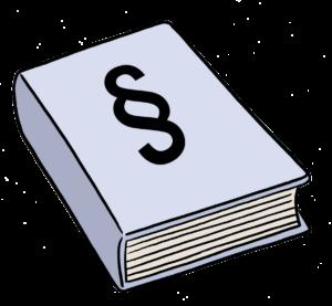 Das Bild zeigt ein Gesetzbuch.