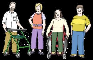 Bild zeigt vier Personen, die selbstbewusst auftreten.