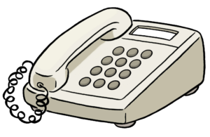 Das Bild zeigt ein Telefon. Das Bild stellt die Erreichbarkeit durch Telefon dar.